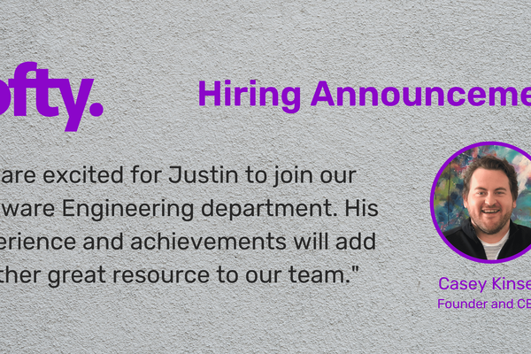 Lofty adds another Software Engineer to growing team.
