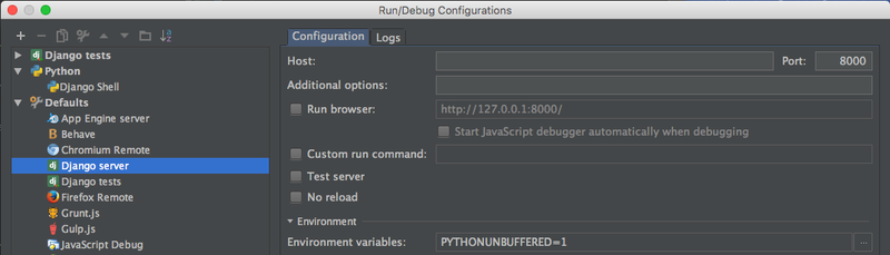 Configuring PyCharm to debug a Django Shell | Lofty Labs
