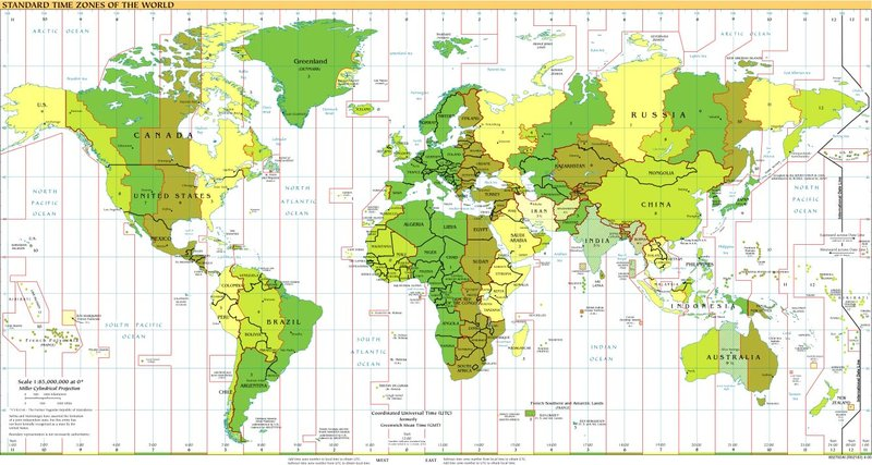 Time Zones of the World